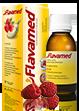 Butelka syropu Flavamed® 15 mg / 5 ml z łyżeczką dozującą