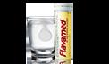 Tabletka rozpuszcza się w szklance wody reprezentująca dawkę tabletek musujących Flavamed® 60 mg
