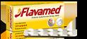 Opakowanie i blister tabletek Flavamed® 30 mg oraz zalecene dawkowanie